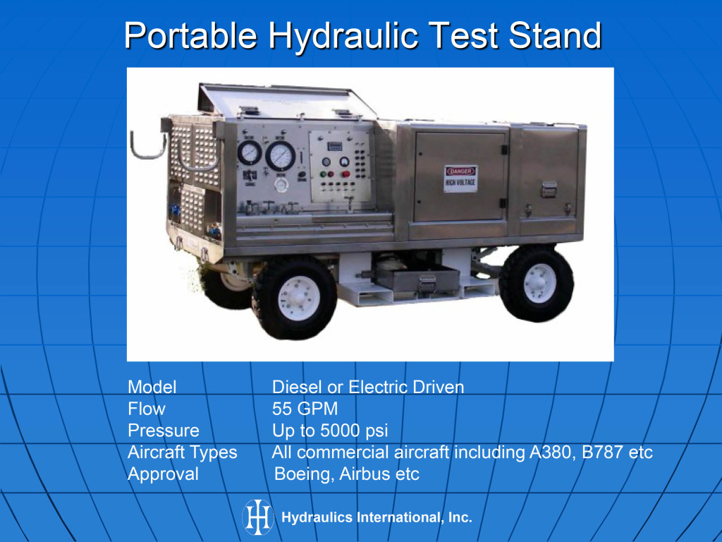 Aircraft hydraulic mro test equipment Hydraulic motor testing
